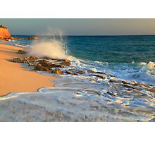 In the surf at Cupecoy Beach, St. Maarten Photographic Print