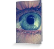 Eye Blue Greeting Card