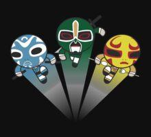 3 Ninjas Puff back Baby Tee