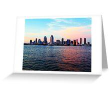 San Diego Evening Greeting Card