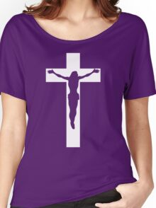 Jesus On Cross Women's Relaxed Fit T-Shirt