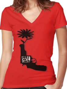 Just Look At The Flowers Women's Fitted V-Neck T-Shirt
