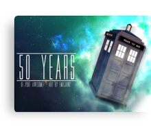 Those 50 Years - Doctor Who Canvas Print