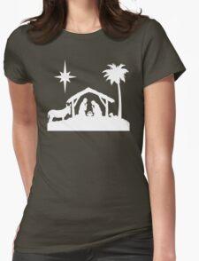 Nativity Scene Womens Fitted T-Shirt