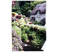 A cottage at Buckland-in-the-Moor......Devon, UK. Poster