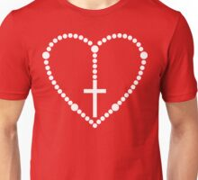 Rosary Cross Heart Unisex T-Shirt