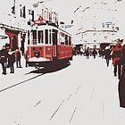 tram in Beyoglu by habish