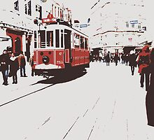 tram in Beyoglu by habish