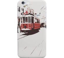 tram in Beyoglu iPhone Case/Skin