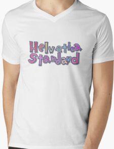 "Nichijou ""Helvetica Standard"" Mens V-Neck T-Shirt"