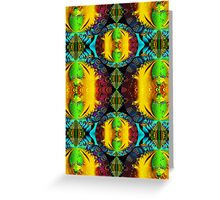 Decorative shapes, Patterns and Colors Greeting Card