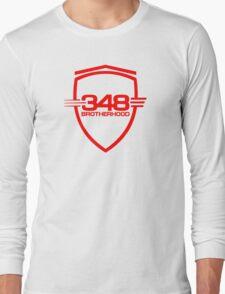 Ferrari 348 Brotherhood / Red / Large Shield Long Sleeve T-Shirt