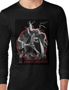 Tesla God Of Thunder Long Sleeve T-Shirt