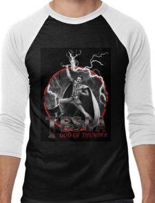 Tesla God Of Thunder Men's Baseball ¾ T-Shirt