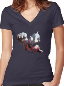 Ultraman Women's Fitted V-Neck T-Shirt
