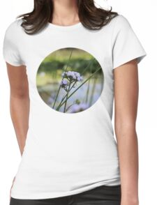 Paint flower Womens Fitted T-Shirt