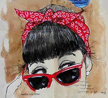 red bandana by Loui  Jover