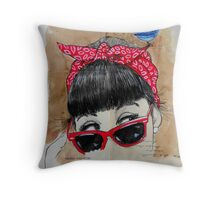 red bandana Throw Pillow