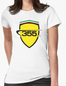 Ferrari 355 / Large Color Shield Womens Fitted T-Shirt