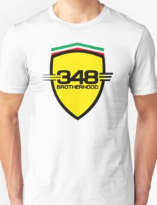 Ferrari 348 Brotherhood / Large Shield / Color Unisex T-Shirt