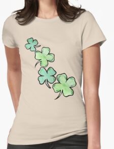 St. patrick's day lucky shamrocks Womens Fitted T-Shirt
