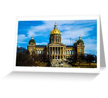 Des Moines Capital Greeting Card