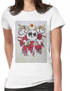 Bright Light Skull Womens Fitted T-Shirt