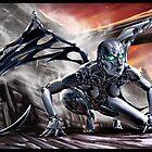 Cyberpunk Painting 018 by Ian Sokoliwski