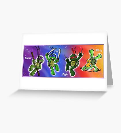 Turtles in Space Greeting Card