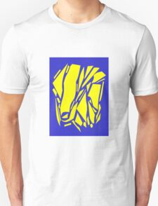 Abstract yellow blue T-Shirt