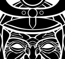 Samurai mask (black and white) Sticker