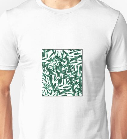 blizzard of feathers GREEN TINT Unisex T-Shirt