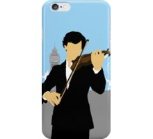 Minimalist Sherlock Violin Piece iPhone Case/Skin