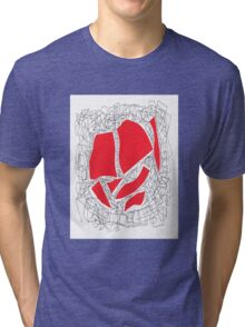Collage red doodle Tri-blend T-Shirt