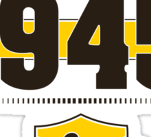 Born in 1945 (Choco&Yellow) Sticker