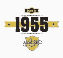 Born in 1955 (Choco&Yellow) Kids Clothes