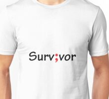 Semicolon; Survivor / Surv;vor Unisex T-Shirt