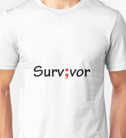 Semicolon; Survivor / Surv;vor Unisex T-Shirt