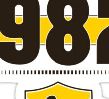 Born in 1982 (Choco&Yellow) Sticker