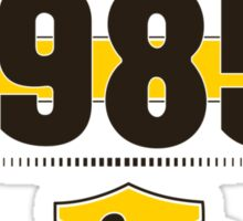 Born in 1985 (Choco&Yellow) Sticker
