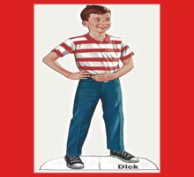 'Fun with Dick & Jane' Dick Children's t-shirt by RighteousTees