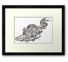 Sketch Inspired by Piranesi Framed Print