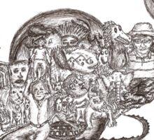 Sketch Inspired by Piranesi Sticker