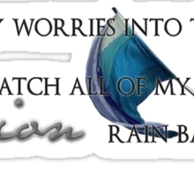 """Toss my worries into the stars"" Sticker"