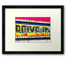 Drive-In Movie Sign Framed Print