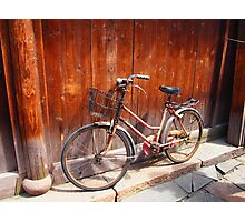 Red Bicycle, found in the water village of Wuzhen, China. Photographic Print