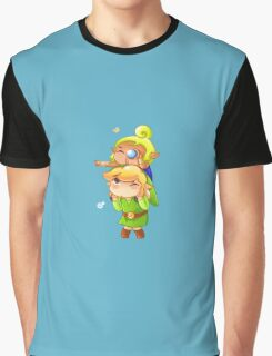 Legend of Zelda Wind Waker: Link and Tetra Graphic T-Shirt