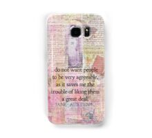Jane Austen whimsical humor people quote Samsung Galaxy Case/Skin
