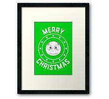 Snowy's Merry Christmas Logo Framed Print