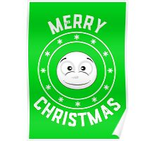 Snowy's Merry Christmas Logo Poster